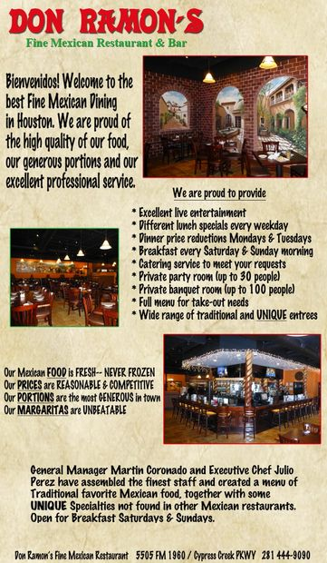 Bienvenidos! Welcome to the best Fine Mexican Dining in Houston. We are proud of the high quality of