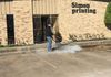 Heated pressure washing in South Houston for Simon Printing.