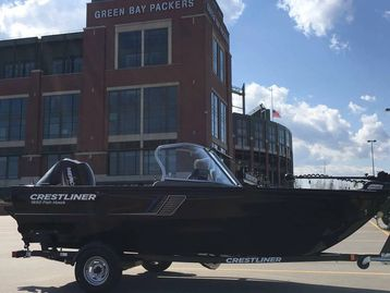 My 2018 Crestliner FishHawk at Lambeau Field.