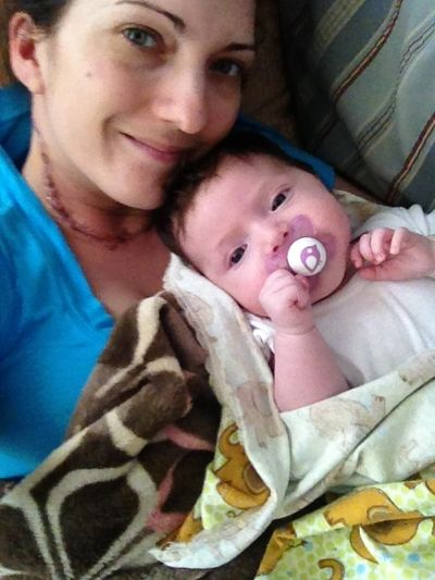 June 2014, after my second neck surgery.  Isabella was only 3 months old!