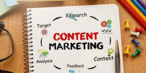one of the marketing services -content marketing shown in the image