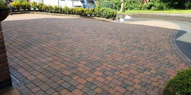 Block Paving cleaned, Oxton, Wirral, Merseyside.