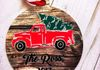 Personalized Red Truck Christmas Tree Aluminum Ornament ~$7.50