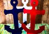 Wooden Anchor Table Centerpieces, Table Toppers ~ $15  Many Colors Available