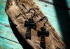 Handcrafted Leather Cross Earrings ~$5.00