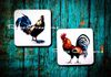 Rooster and Hen Coaster SET of Two ~$9.00