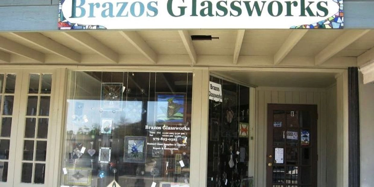 We are a gallery, retail glass shop and working  studio located in Historic Downtown Bryan, Texas.