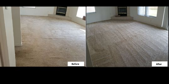 Carpet Clean, Clean Carpet, Before and After, Tan Carpet, Spotless Carpet, Stretched Carpet,