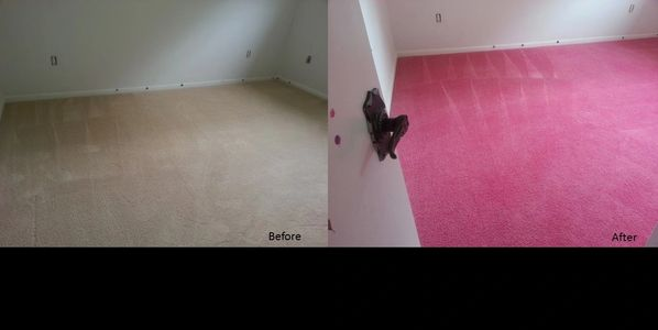 Clean Carpet, Pink Carpet, Carpet Dye, Carpet Change, Carpet Restore, Carpet Color, Before and After Carpet Dyeing