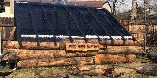solar kiln is up and running drying live edge slabs.