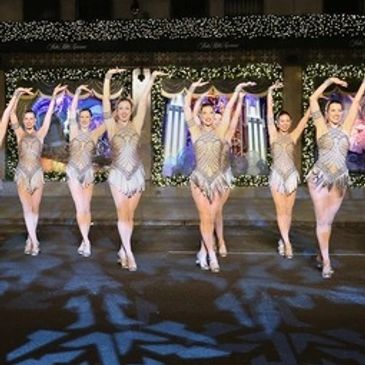 The Rockettes dance at Saks 5th Ave window unveiling