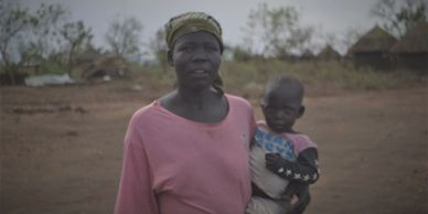 South Sudanese mother and baby