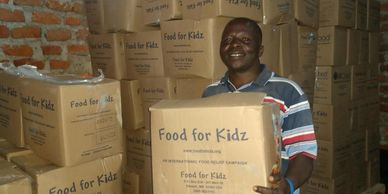 Packaged food arrives for South Sudan refugees living in Uganda