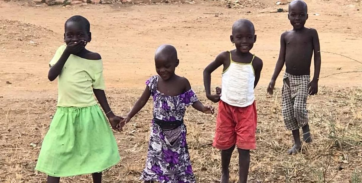 South Sudan refugee children in Uganda