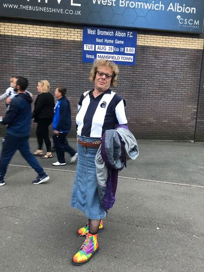 Eve, a trans woman and lifelong fan encouraged back to matches through joining Proud Baggies.