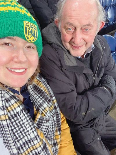 Hannah & her Grandad enjoying a rare trip to The Hawthorns together.