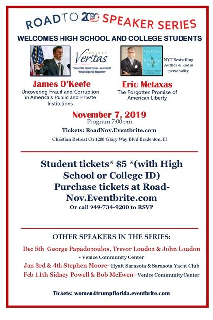 Student tickets* $5 *(with High School or College ID) Purchase tickets at RoadNov.Eventbrite.com