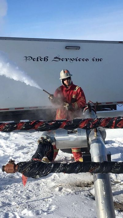 Dry Steaming - Steam Truck Services - Pelch Services - servicing Rosetown, Kindersley and area