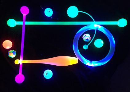 You name it we make it - LED juggle balls, rings, hoops, clubs, footbags, devil sticks, staff, poi