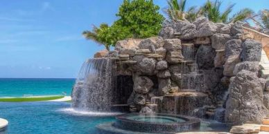 Grotto waterfall in South Florida  the best Florida waterfall company