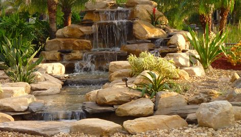 backyard garden waterfalls - Garden Waterfalls