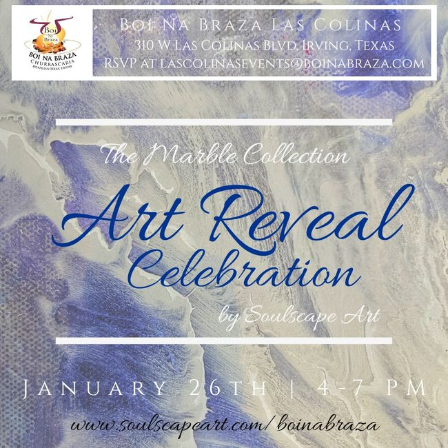 Join us for the Art Reveal Celebration for the unveiling of new artwork by Soulscape Art.