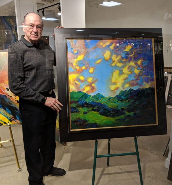 Charles Wallis, Master Painter and Gallery Artist at Soulscape Art Gallery.