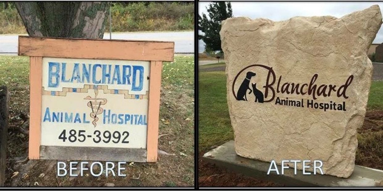 Boulder Design Stone Sign Rock Sign Rock Carving Business Sign Custom Business Signage Signsthatrock