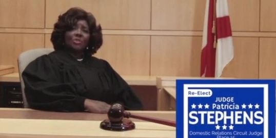 Judge Patricia Stephens being deceptive to the public to sucker you out of your vote