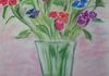 Flowers in a Vase, pastel  18'' x 20''