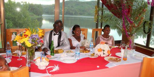 Dining at main hotel