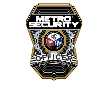 Metro Security badge