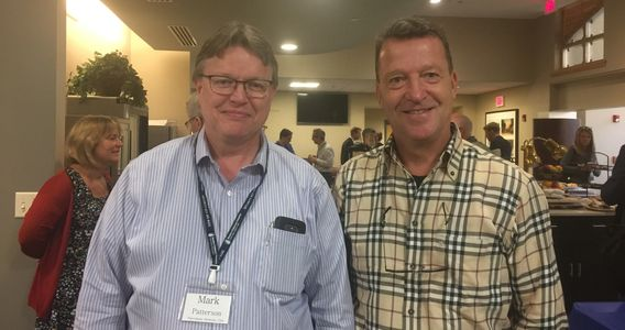 Drs. Mark Patterson and Claudio Bassetti at the 7th International Symposium on Narcolepsy.