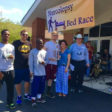 Winners of the 6th Annual Narcolepsy Bed Race.