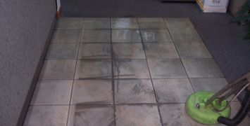 Ceramic tile, cleaning, commercial entries