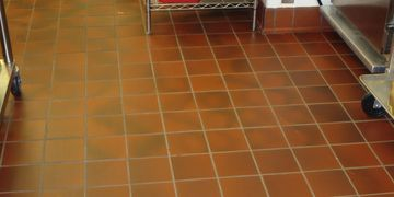 Kitchen, commercial, tile, cleaning