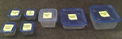 Fantastic Freezer Containers with label-ready lids + labels