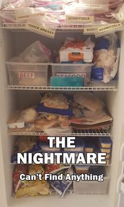 Conventional shelves in freezers create storage nightmares