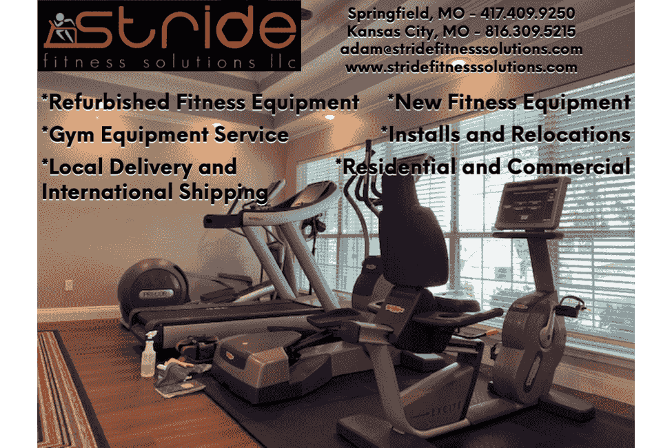Stride Fitness Solutions has a new and used fitness equipment store and provides fitness equipment r