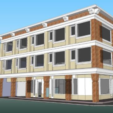 3 story building for Center 25 housing units