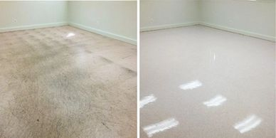 floor strip was and polish VCT FORBO