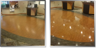 waxed vct floors