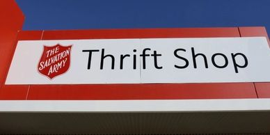 Fascia shopfront sign Salvation Army Thrift Shop Echuca