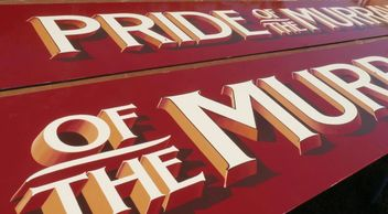 Hand painted signs for the Pride of the Murray Paddlesteamer