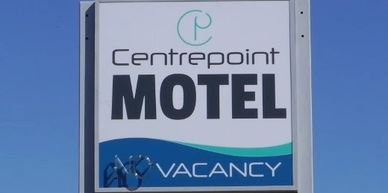 Centrepoint Motel Illuminated pylon sign