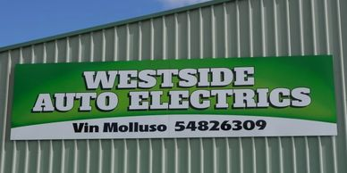 Industrial factory signage for Westside Auto Electrics, Echuca