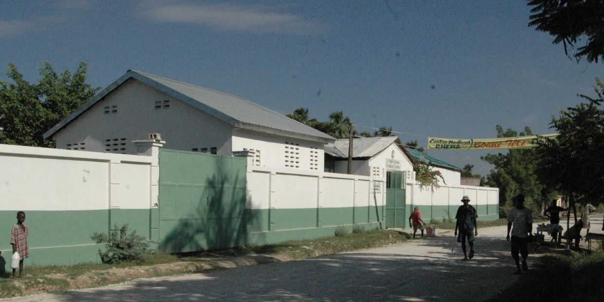 The J. Peter Gruits Memorial Hospital was finally constructed in 1989 in Boccozelle, Haiti.