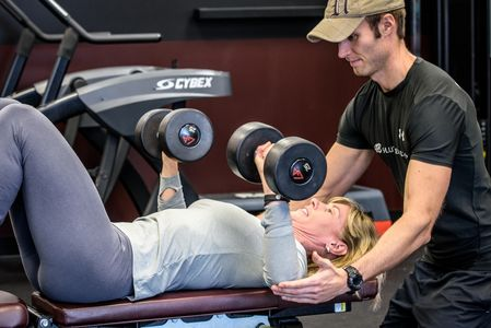 Personal training at Amherst Fitness