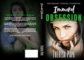 Paperback book cover for Immoral Obsession.