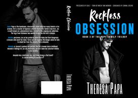 Paperback book cover for Reckless Obsession.